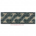 "Empress, Honed Mosaic Tile Listello 4"" x 12"""